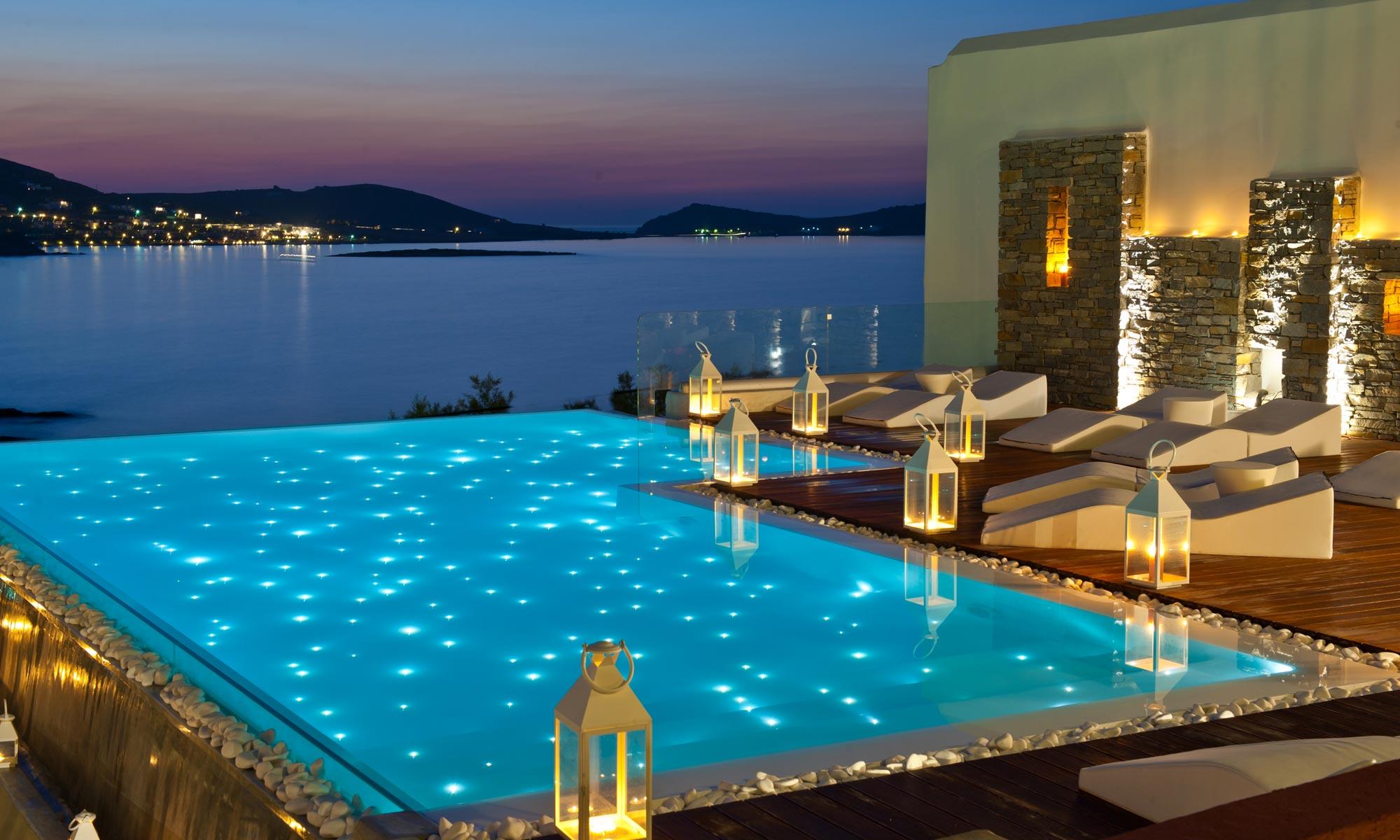 Elegir iluminaci n de fibra ptica para piscina for Piletas modernas