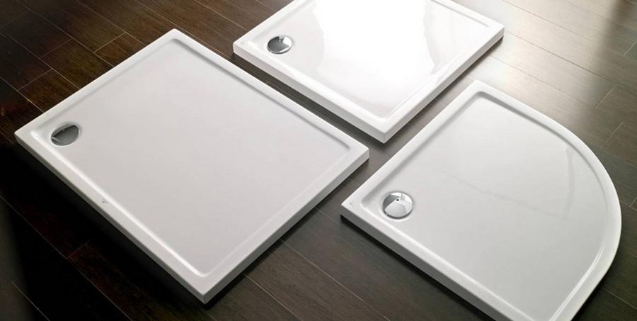 Elegir un plato de ducha para tu ba o - Como colocar un plato de ducha de resina ...