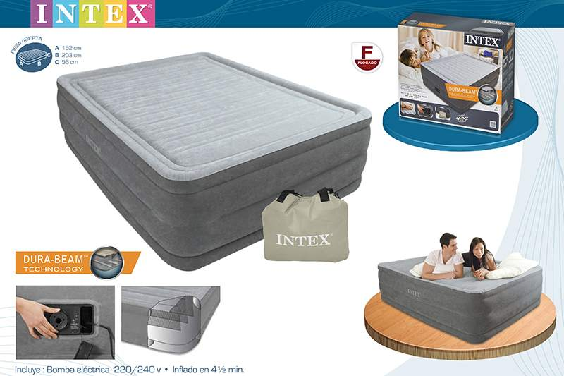 Tamano Baño Minusvalidos:Colchón hinchable Intex Dura Beam 152X203X56 cm