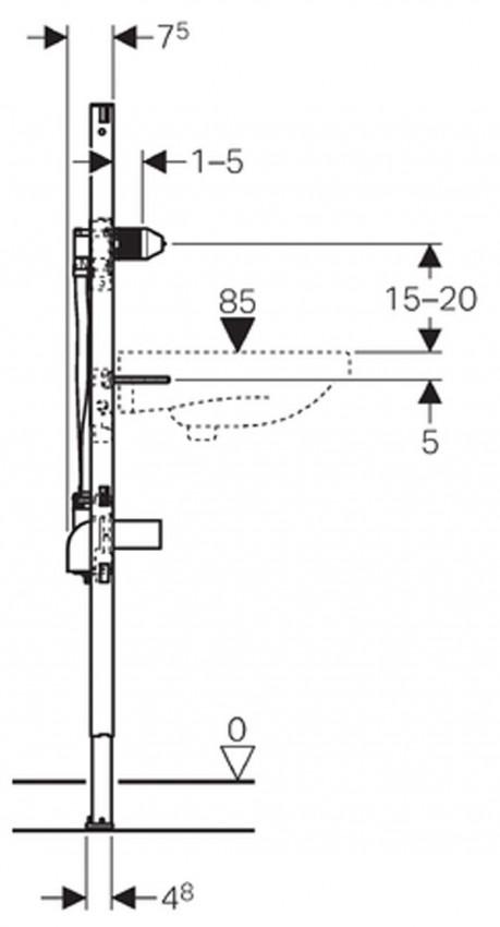 Bastidor para lavabo geberit duofix 130 cm para grifo for Grifos antiguos de pared
