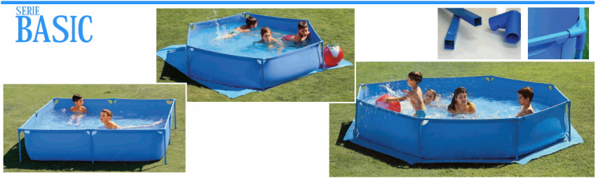Piscina infantil toi basic hexagonal 200cm for Montar piscina desmontable