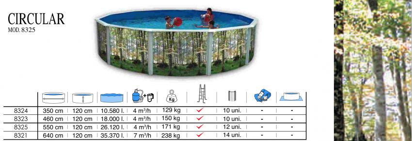 Piscina desmontable toi circular bosque depuradora de arena - Depuradora de arena para piscina desmontable ...