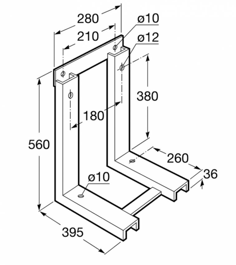 Kit soporte bastidor con fijaciones Roca