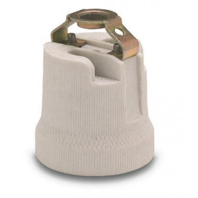 Portalamparas porcelana e-27 normalizado doble m10x100 Famatel
