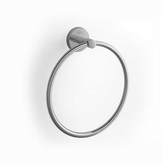 Toallero de lavabo de anilla para atornillar/pegar cromado Twin Roca