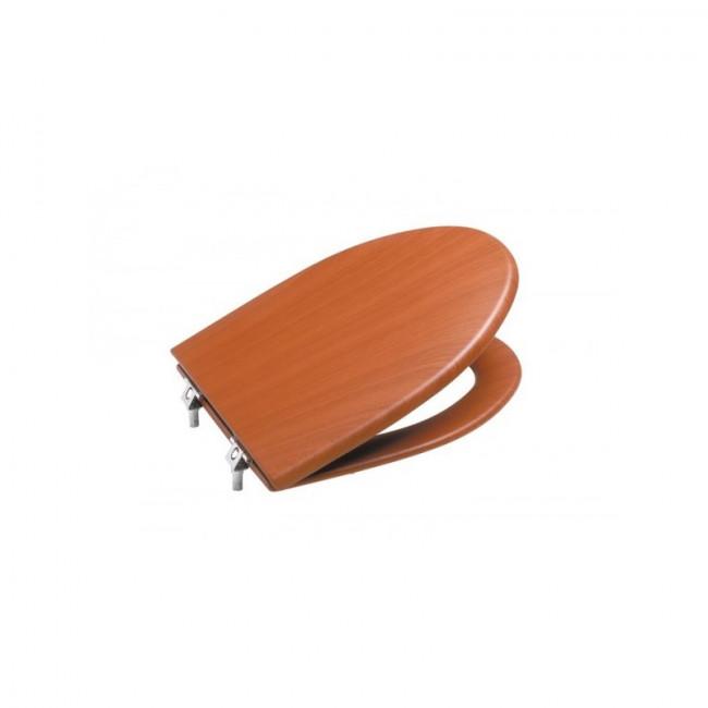 Asiento con tapa Roca para inodoro America (cerezo)