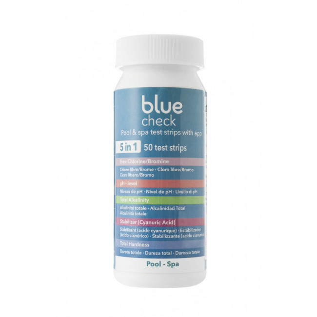 Juego tiras de análisis Blue check test 5 en 1 (50u) Astralpool