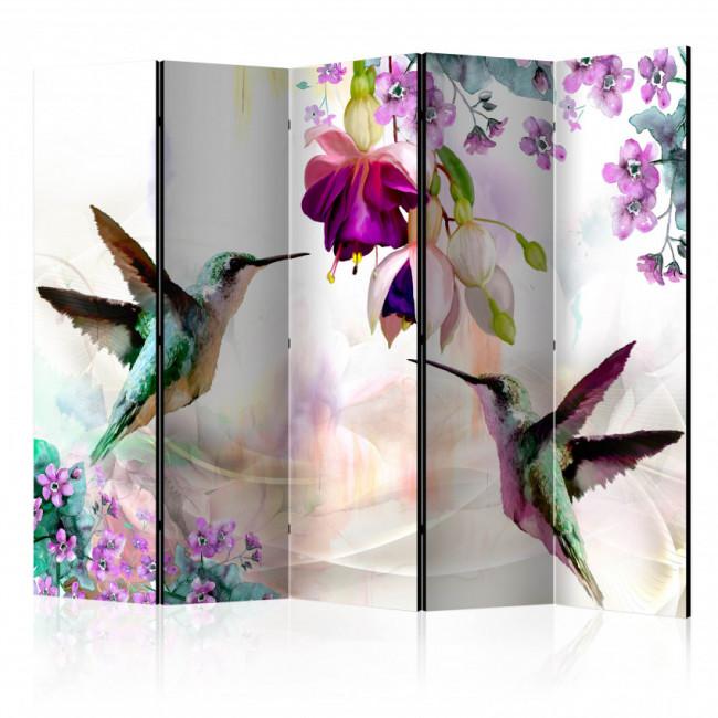 Biombo - Hummingbirds and Flowers II  225x172 CM