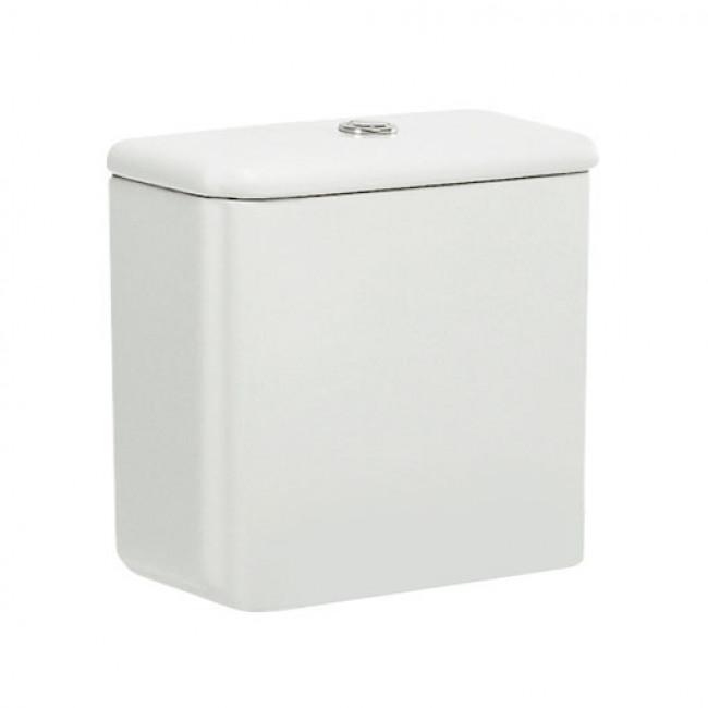 Cisterna de doble descarga 6/3L alimentación inferior blanco Dama Retro Roca