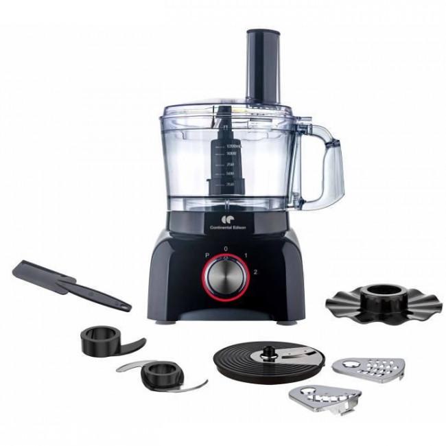 Robot de cocina CERM600B multifunción 600W Negro CONTINENTAL EDISON