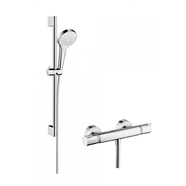 Grifo de ducha Hansgrohe Croma Select S Vario Ecostat Comfort Combi termostático