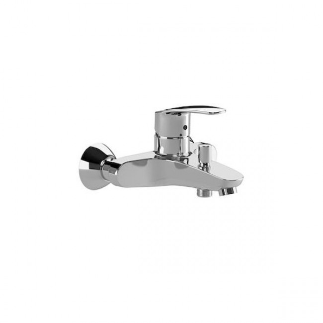 Grifo de bañera monomando con inversor automático cromo Monodin Roca