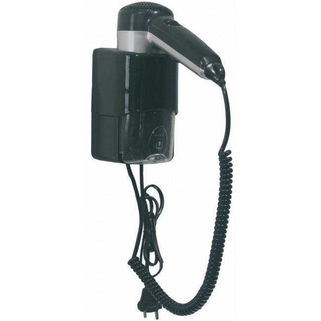 Mediclinics SC0030CS secador de cabello tipo pistola con enchufe y conexión para máquina de afeitar, ABS negro