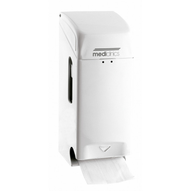 Mediclinics PR0784 Dispensador de papel higiénico 2 rollos estándar epoxi blanco
