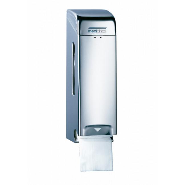 Mediclinics PR0784C Dispensador de papel higiénico 2 rollos estándar inox brillante