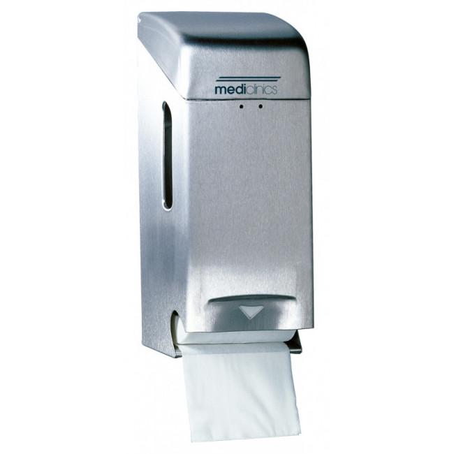 Mediclinics PR0784CS Dispensador de papel higiénico 2 rollos estándar inox satinado