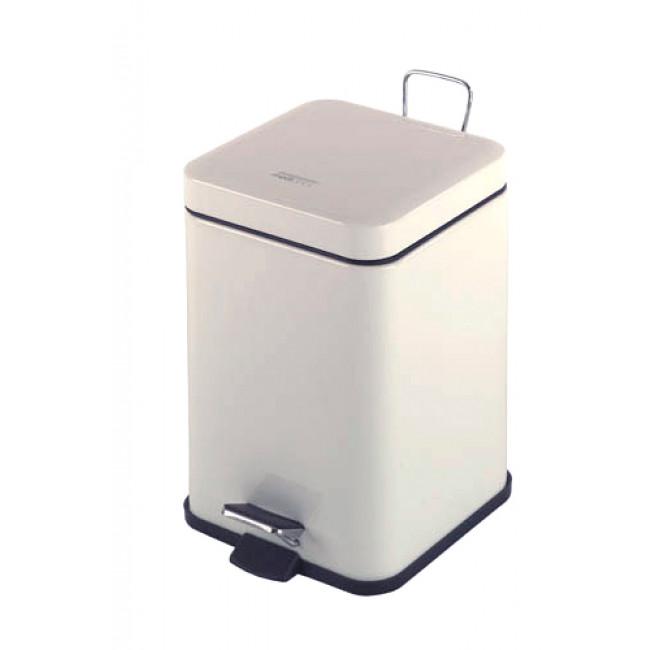 Mediclinics PP1206 cubo sanitario cuadrado epoxi blanco 6 L