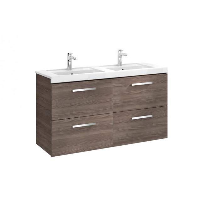 Mueble de ba o roca prisma con cuatro cajones y lavabo for Mueble lavabo blanco