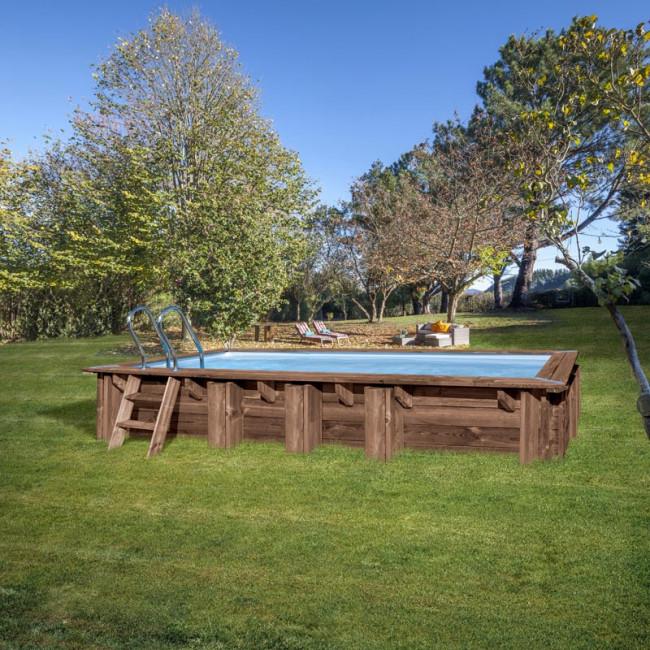 Piscina de madera Gre Mango 618 x 320 x 130 cm