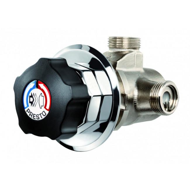 Presto grifo temporizado mezclador para ducha Anti-legionella Alpa 80 Con válvula de vaciado 98906