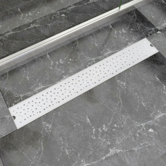 Desagüe lineal de ducha burbuja 830x140 mm acero inoxidable