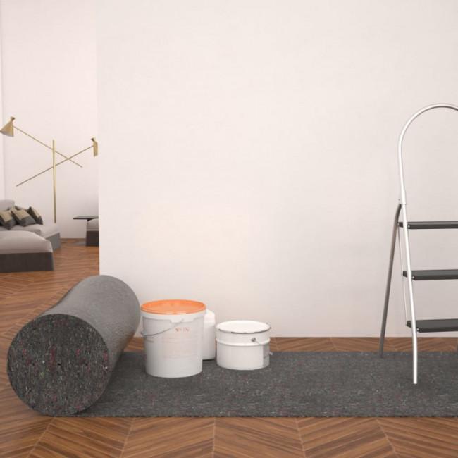 Fieltro antideslizante de pintor 50 m 280 g/m² gris