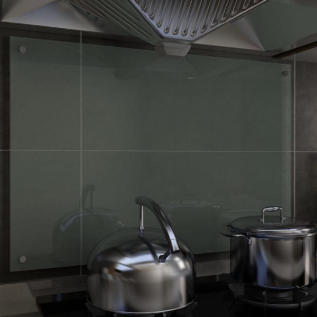 Protector salpicaduras cocina vidrio templado blanco 90x60 cm