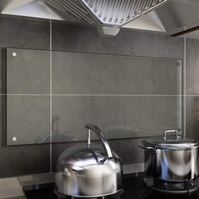 Protector contra salpicaduras cocina vidrio templado 90x40 cm