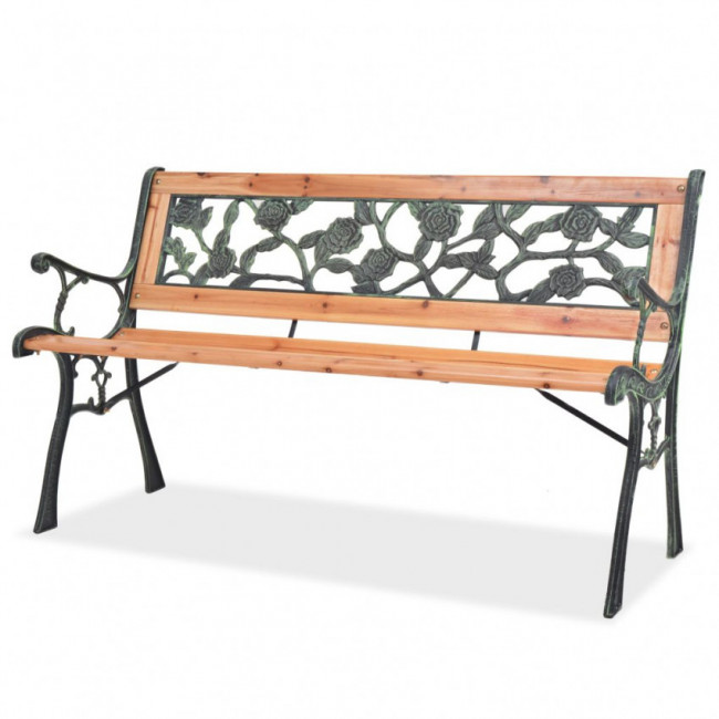 Banco de jardín 122 cm madera