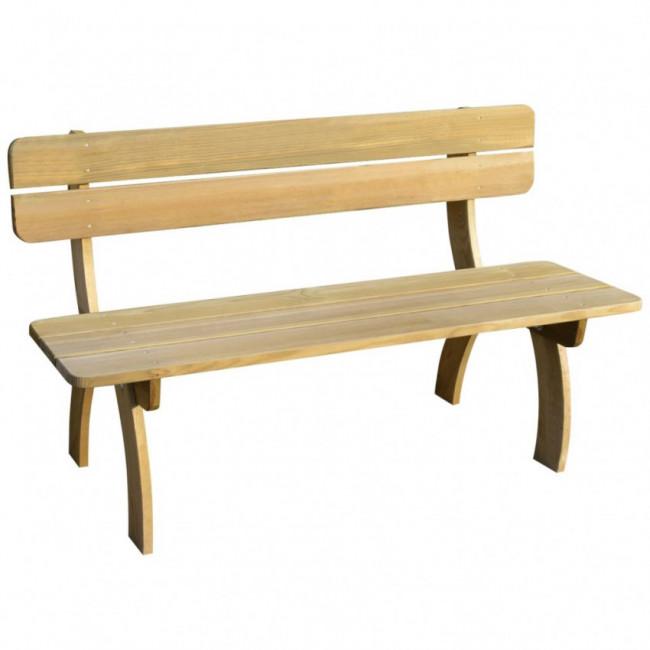 Banco de jardín 150 cm madera de pino impregnada FSC