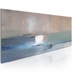 Cuadro pintado - Primera ola 100x40 CM