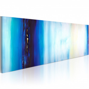 Cuadro pintado - Líquido azul 100x40 CM