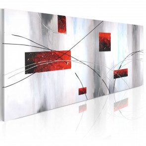 Cuadro pintado - Manifestación geométrica 100x40 CM