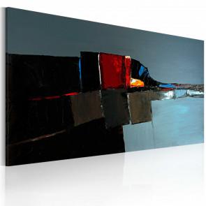Cuadro pintado - Elefante abstracto 120x60 CM