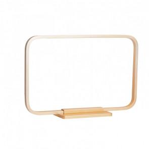 Lámpara de sobremesa LED 7W rectangular Framed dorado Sulion