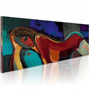 Cuadro pintado - Siesta  120x60 CM