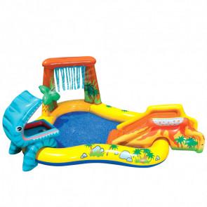 Piscina inflable para niños intex / dinosaurio acuático para juegos 249 x 191 x 109 cm