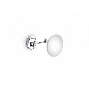 Espejo de aumento de pared con 2 brazos articulados sin luz cromo Hotels Roca