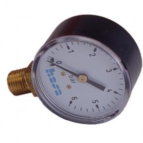 Hasa manómetro para medir la presión en la instalación escala de 0 a 6 Bar 2114