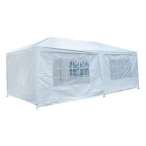 Carpa plegable Garden poliéster color blanco Aktive 53993