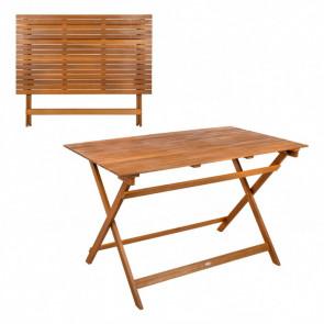 Mesa rectangular madera de acacia Garden 113x64x74 cm Aktive 61030