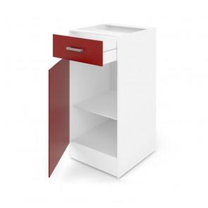 Mueble de cocina bajo ULTRA 40cm Rojo mate AUCUNE
