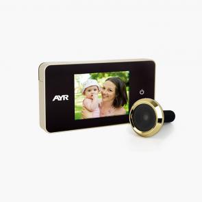 """Mirilla Digital 756 Con Pantalla De 2.6"""" Y Funcion Easy Touch. Laton Brillo AYR"""