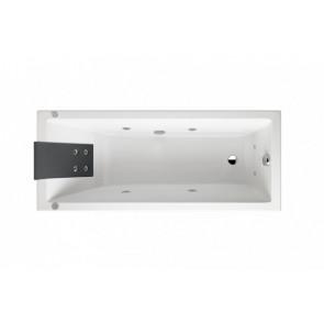 Bañera rectangular Gala Mitta 170x75 Emotive Touch Dorsal