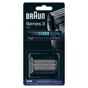 Pieza de repuesto 30B Black compatible con las afeitadoras Serie 3 Braun