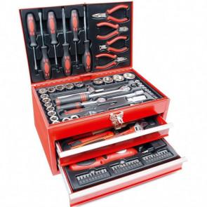 Brüder Mannesmann Set de herramientas manuales 155 Piezas 29066