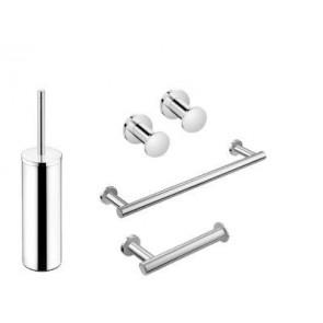 Pack accesorios de baño Cosmic Architect latón cromo/inox brillo