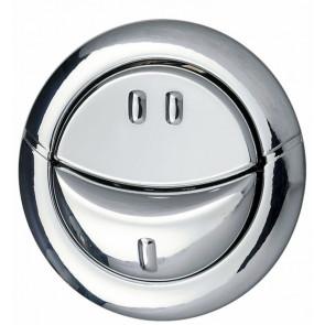 Botón pulsador doble cromado MW Wirquin