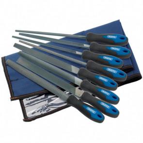 Draper Tools Set de escofinas y limas de ingeniería 8 uds 200 mm 44961