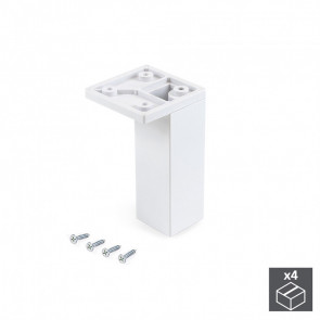 Pie regulable para mueble Smartfeet 100mm de esquina Emuca